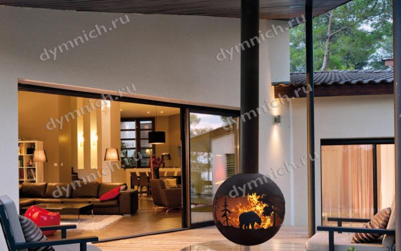Современный дровяной камин оригинального дизайна для дома, дачи