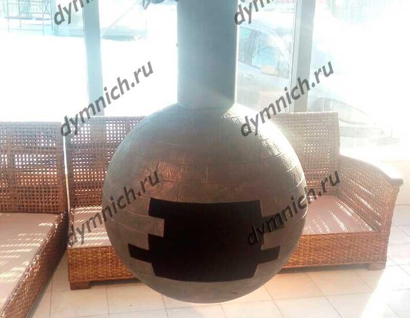 Подвесной камин в стиле лофт